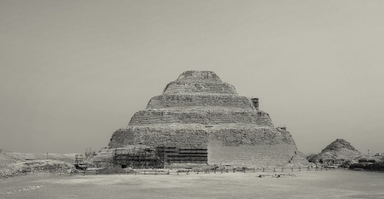 An image of Djoser's Step Pyramid at Saqqara. Shutterstock.
