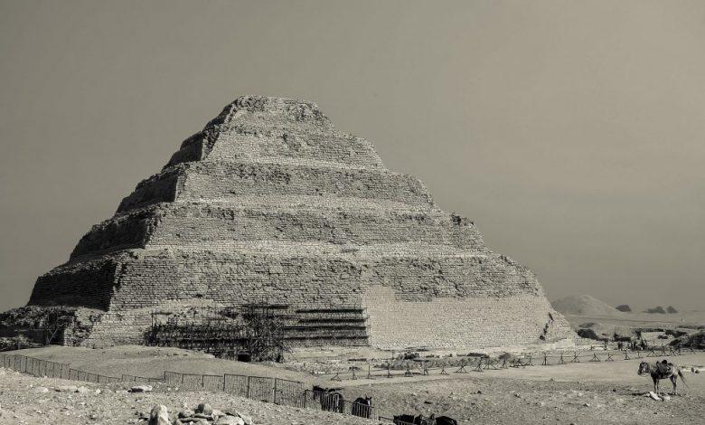 Djoser's Step Pyramid at Saqqara. Shutterstock.