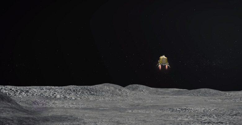 A still from an animation showing ISRO's Vikram lander. Image Credit: Vikram lander.