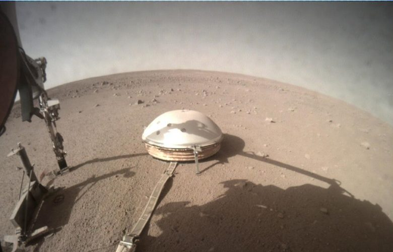 View of NASA's InSight lander on Mars. Image Credit: NASA.