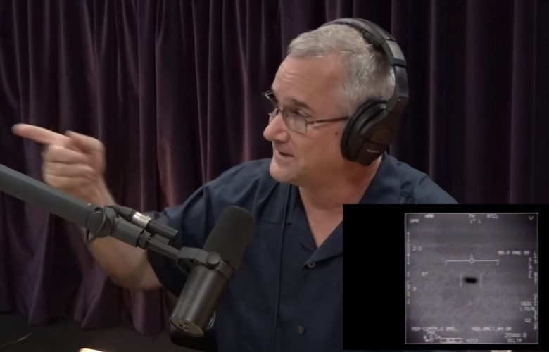 Navy Pilot speaking about his UFO encounter. Image Credit: Joe Rogan Experience / YouTube.