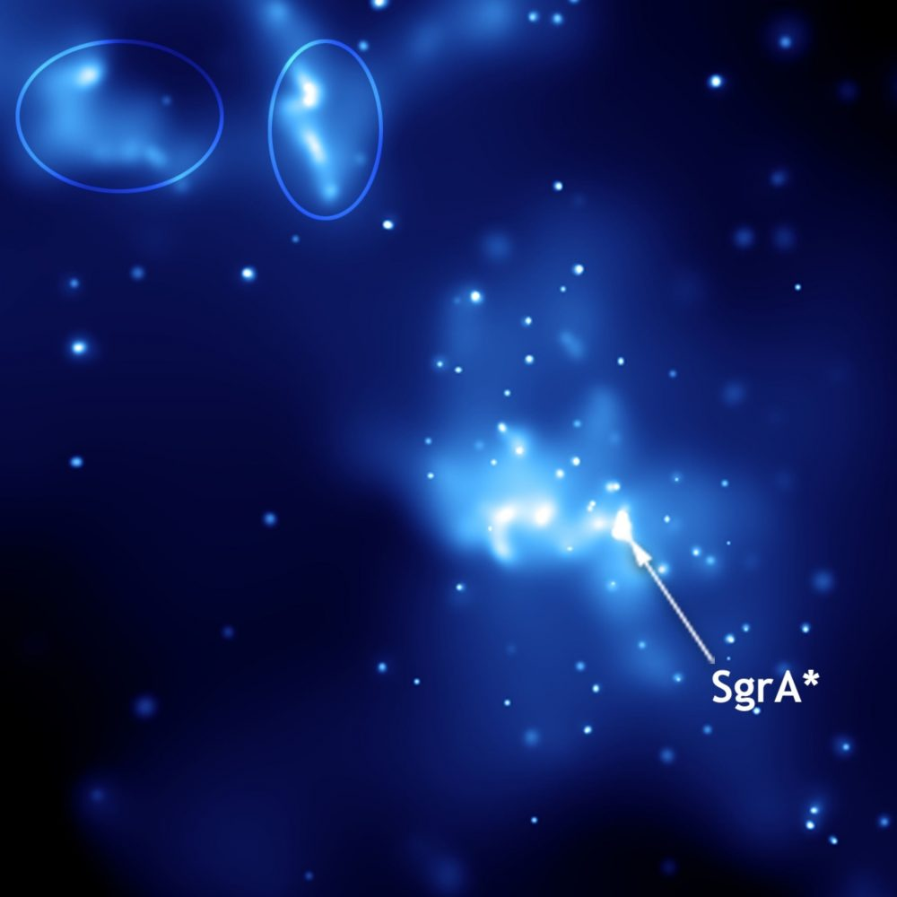 Seen here is the supermassive Black hole at the center of the Milky Way Sagittarius A. Image Credit: Wikimedia Commons / Public Domain.