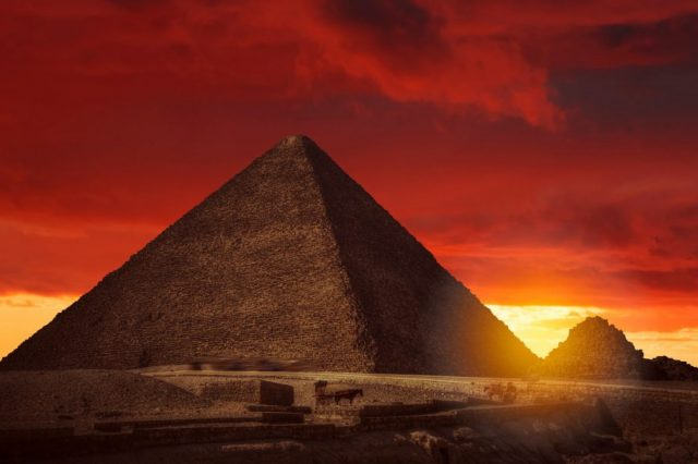 The Great Pyramid of Giza at Sunset. Shutterstock.