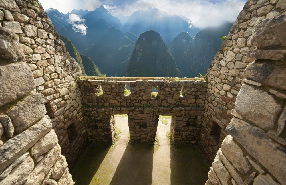 An ancient Inca wall at the city of Machu Picchu. Shutterstock.