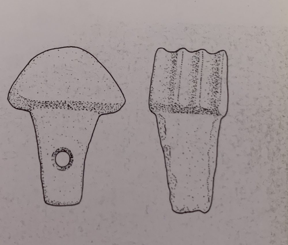 The mysterious mushroom-like ancient Egyptian tool. Image Credit: The Pyramids, Mark Lehner, p211.