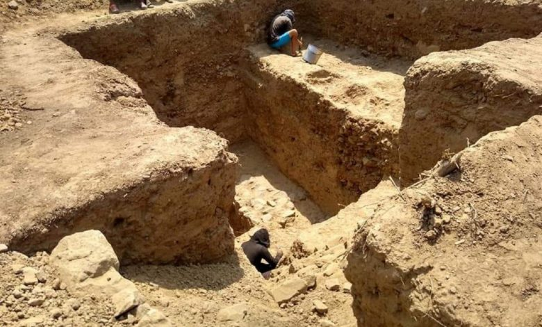 An image of the buried megalithic temple discovered in Peru. AFP.