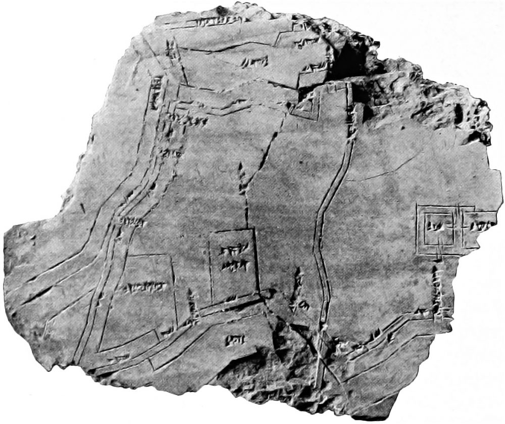 An image of a clay tablet with map of the Babylonian city of Nippur (ca. 1400 BC). Image Credit: Wikimedia Commons / Public Domain.