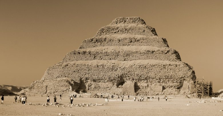 The Step Pyramid of Saqqara built by Pharaoh Djoser of the Third Dynasty. Shutterstock.