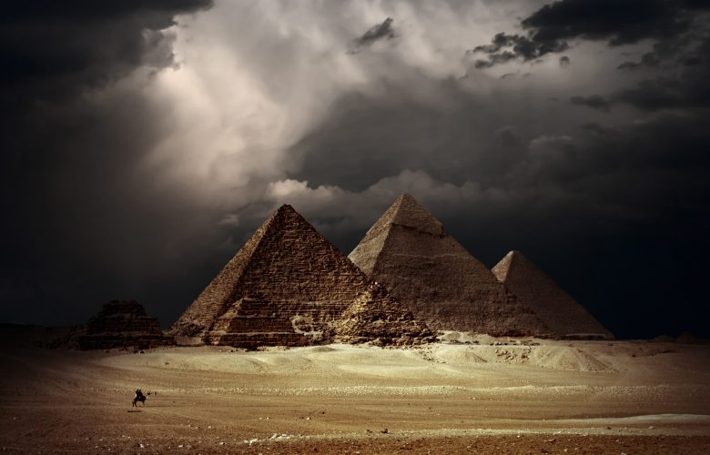 An image showing the Giza pyramid complex. Shutterstock.