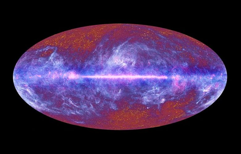 A view of the map of the cosmic microwave background across the sky. Image Credit: ESA and the Planck Collaboration.