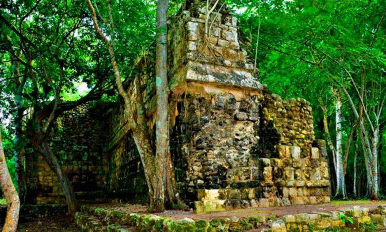 An image of an ancient structure at Kuluba, Yucatan. Image Credit: INAH.