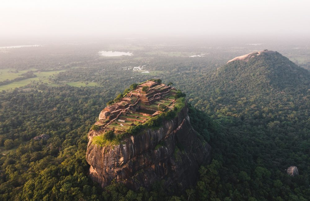 An aerial view of the Rock City of Sigiriya. Shutterstock.