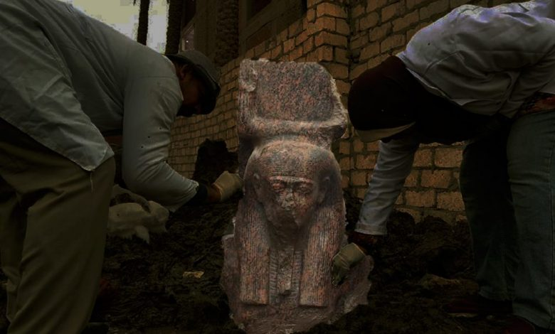 An image of the recently uncovered bust of Ramesses II. Image Credit: Egyptian Ministry of Antiquities / Facebook.