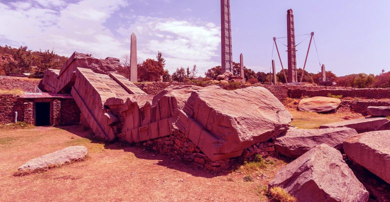 Ancient obelisks in city Aksum, Ethiopia. Shutterstock.