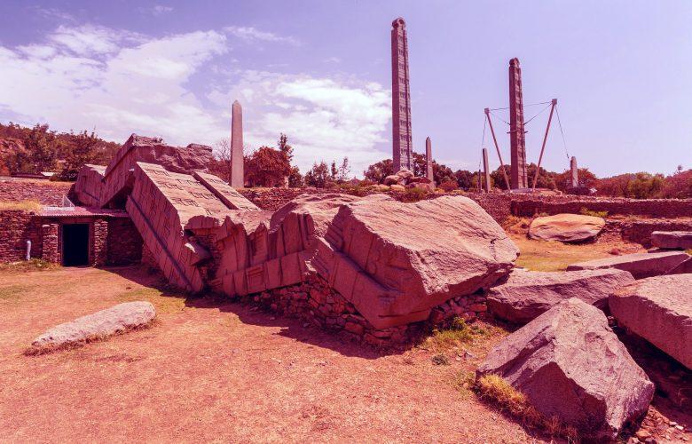 Ancient obelisks in city Aksum, Ethiopia. Shutterstock.
