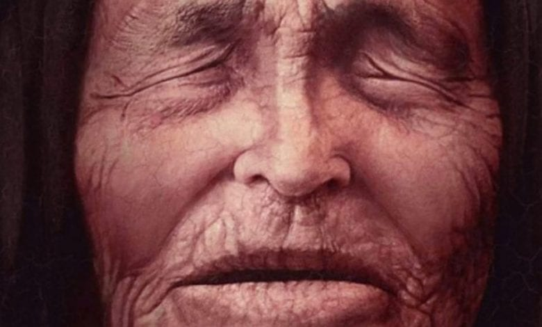 An illustration of Baba Vanga as an old woman. Image Credit: Pinterest.