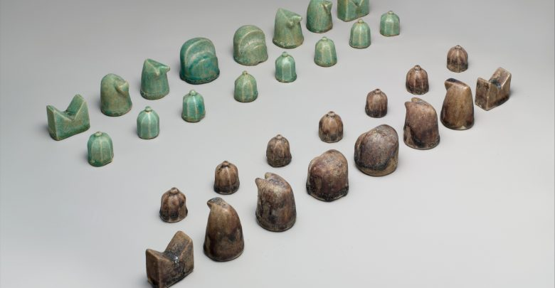 Iranian Chess pieces from the 12th century. Image Credit: Metropolitan Museum of Art.