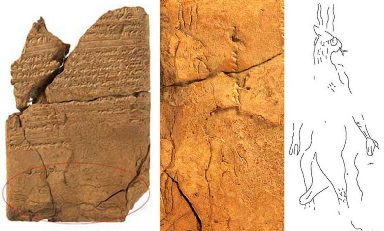 Depictions of an ancient Mesopotamian demon. Image Credit: UoC / Olaf M. Teßmer.