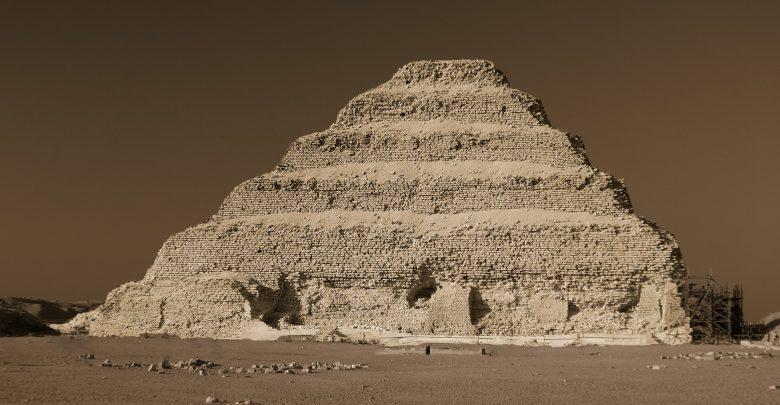 An image of Djoser's Step Pyramid at Saqqara. Shutterstock.