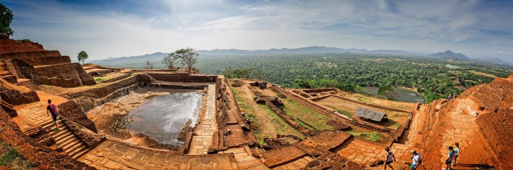 A panoramic view of the World Heritage Site of Sigiriya. Shutterstock.