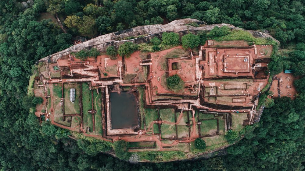 An incredible aerial view of Sigiriya. Shutterstock.