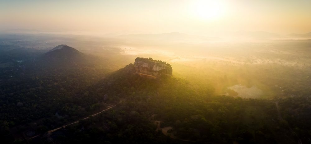 A stunning photograph of the sunrise over Sigiriya. Shutterstock.