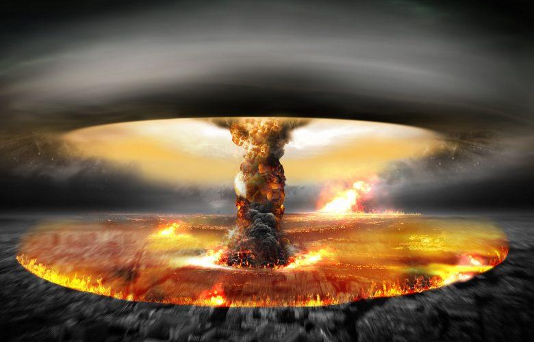 An artists rendering of a nuclear blast. Shutterstock.