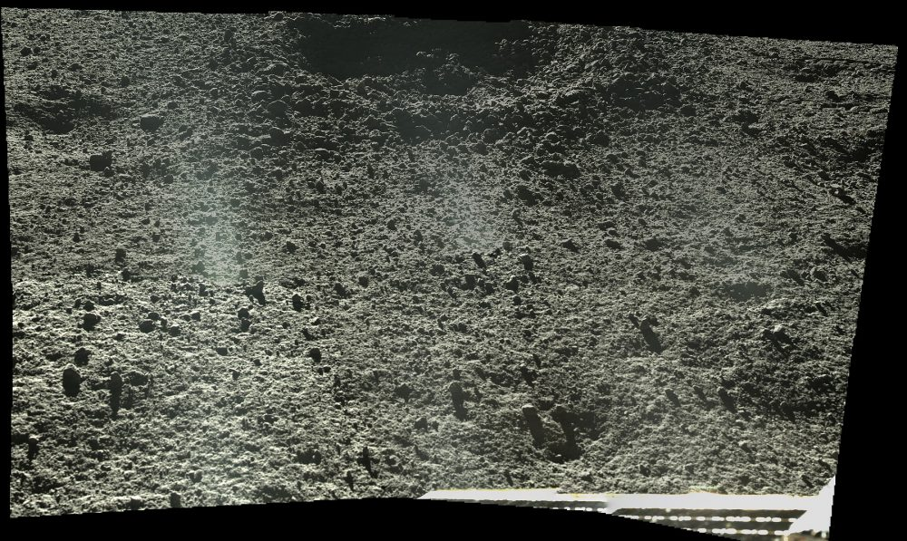 A high-resolution close up image of the lunar terrain. Image Credit: CLEP/Doug Ellison, Twitter.