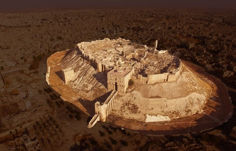 Aerial view of the Citadel of the ancient city of Aleppo. Image Credit: Reddit.