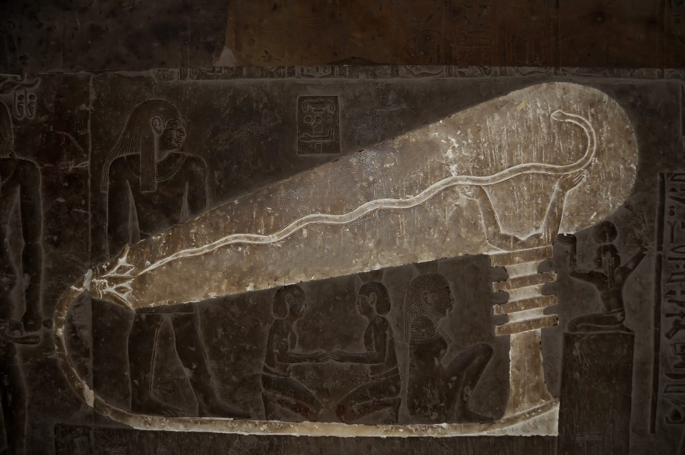 An image of the so-called Dendera Light. Shutterstock.