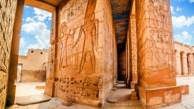An image of the Temple of Medinet Habu. Egypt, Luxor. Shutterstock.
