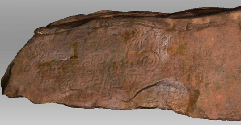 Photo of 2,000-Year-Old Monolith Engraved With Mystery Symbols Scanned by Experts