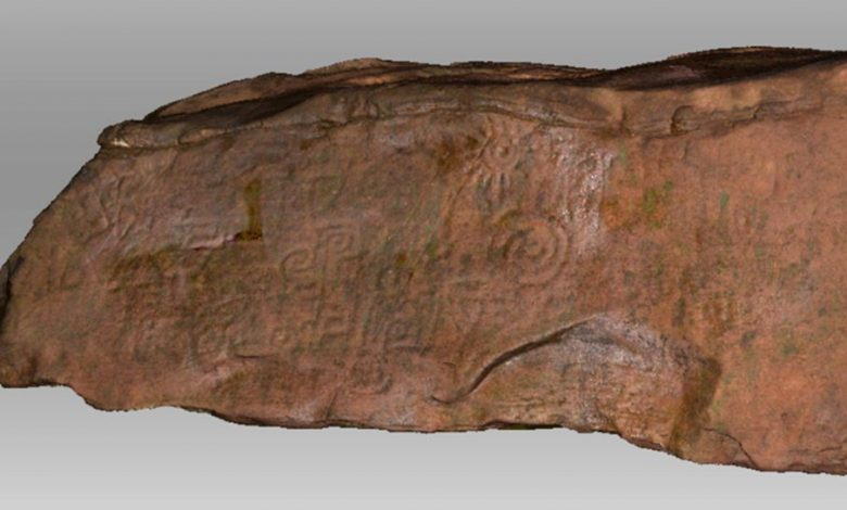 An image of the strange symbols on the surface of the monolith. Image Credit: Exact Metrology.