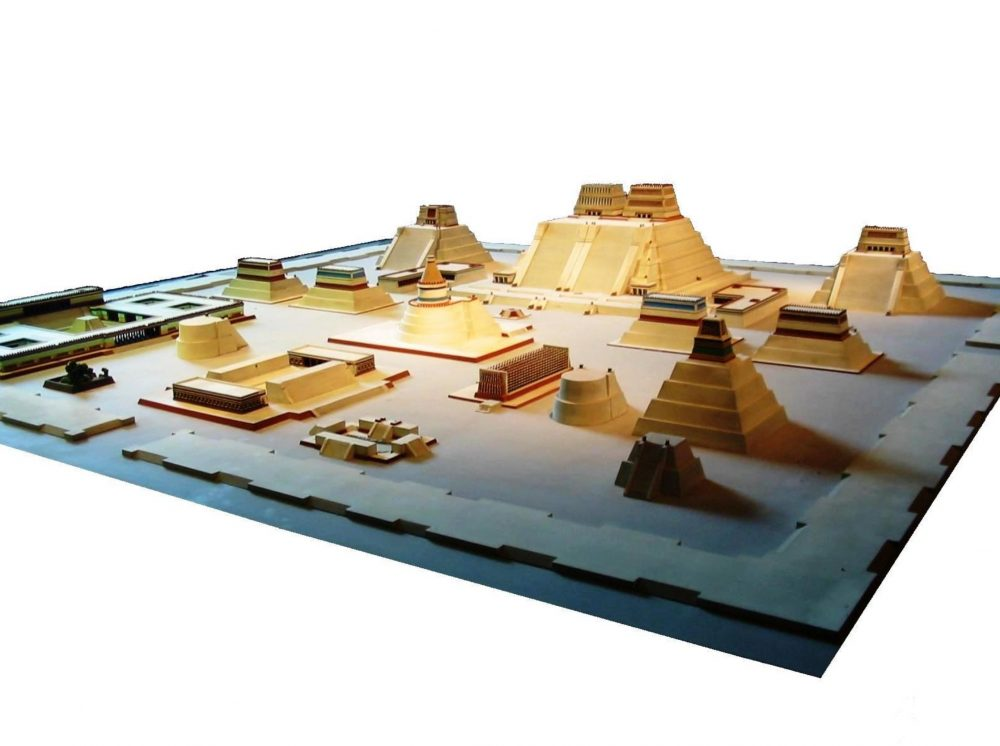 Model of the temple district of Tenochtitlan at the National Museum of Anthropology. Image Credit: Wikimedia Commons / Public Domain.