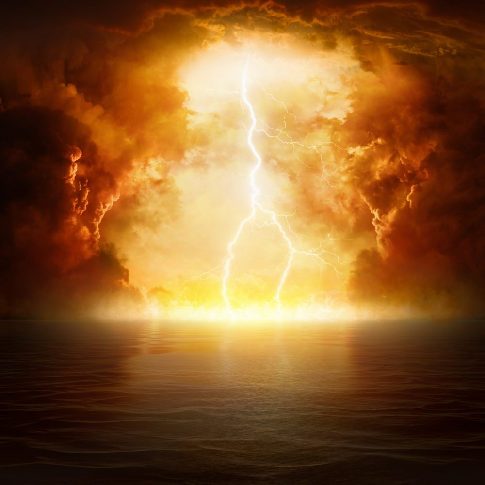 Artists rendering of an apocalyptic background. Shutterstock.