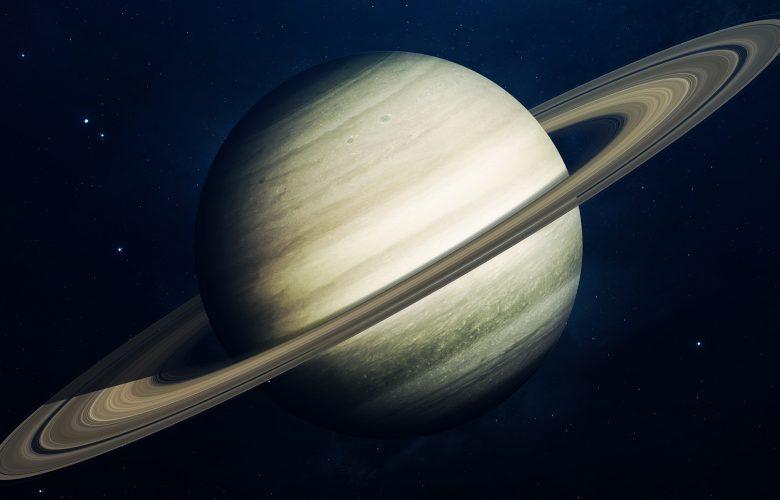 An artists rendering of gas giant Saturn. Shutterstock.