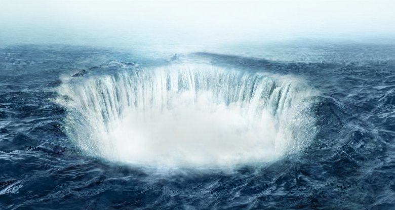 An artists rendering of a Bermuda Triangle anomaly. Shutterstock.
