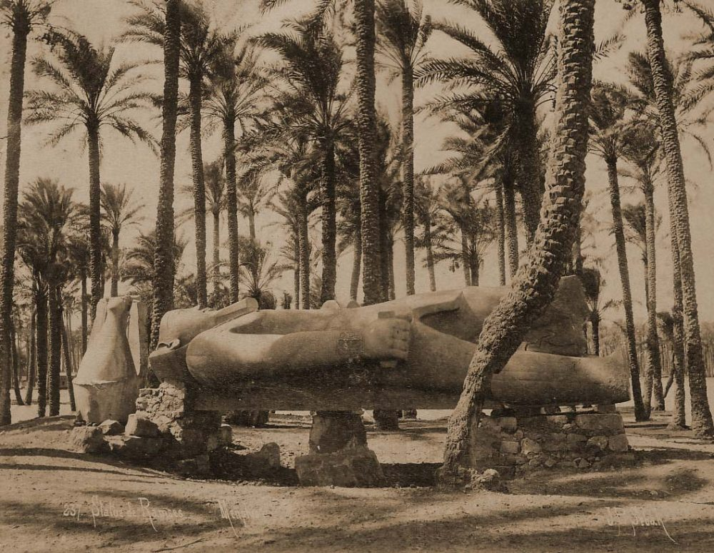 An image of the statue of Rameses II, discovered in Memphis by Joseph Hekekyan. Image Credit: Wikimedia Commons.
