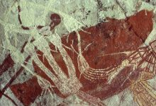 Cave art at Jabiru Dreaming inside the Kakadu National Park. Image Credit: Wikimedia Commons.