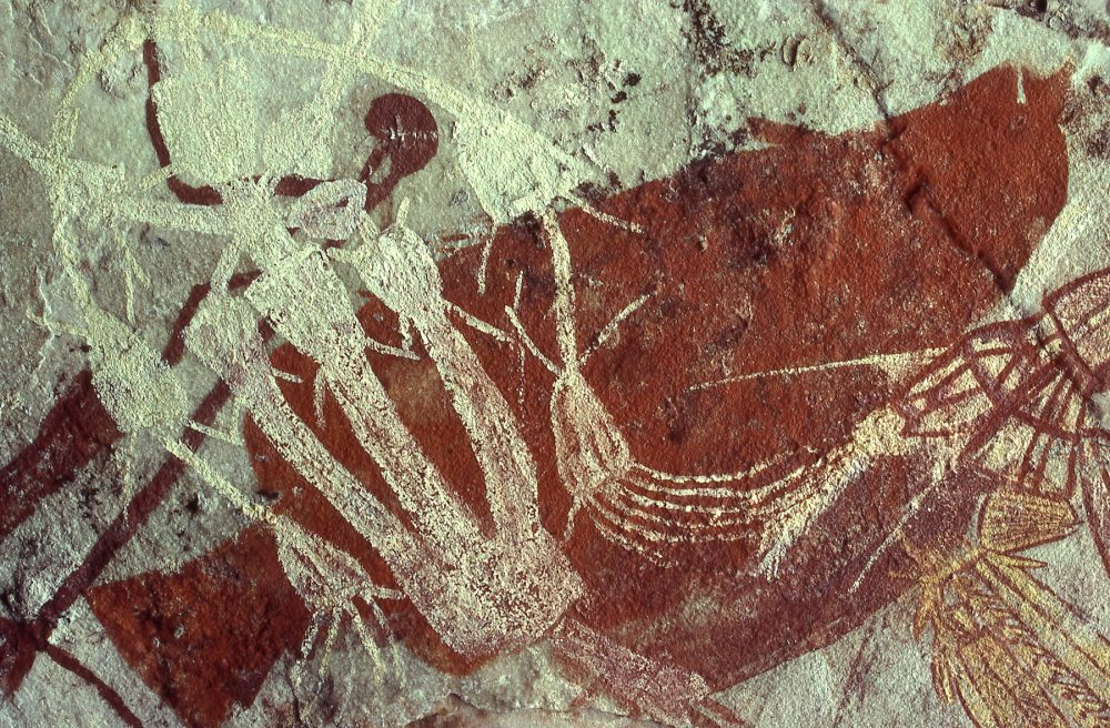 Cave art at Jabiru Dreaming inside the Kakadu National Park. Image Credit: Wikimedia Commons.