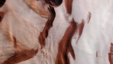 Photo of Here Are 5 Stumping Images of Mars' North Pole Covered With Ice