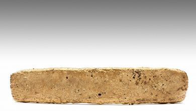 The image of the gold bar that belonged to the ancient Aztec empire. Image Credit: Archivo digital / INAH.