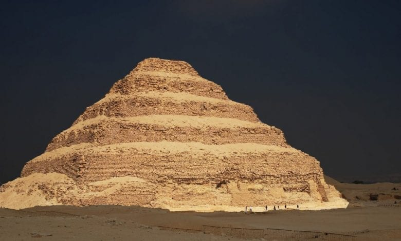 A photograph of the Step Pyramid of Djoser at Saqqara, Egypt. Shutterstock.