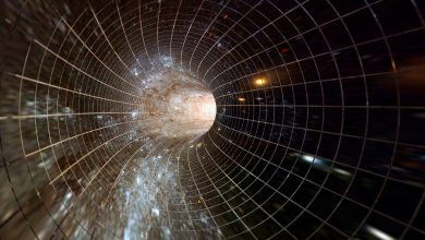 An artists rendering of a portal through space-time. Shutterstock.