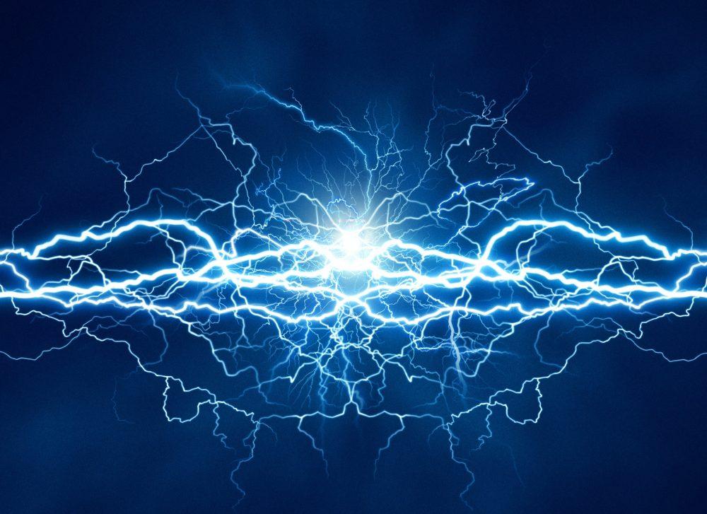 An artist's rendering of electricity. Shutterstock.