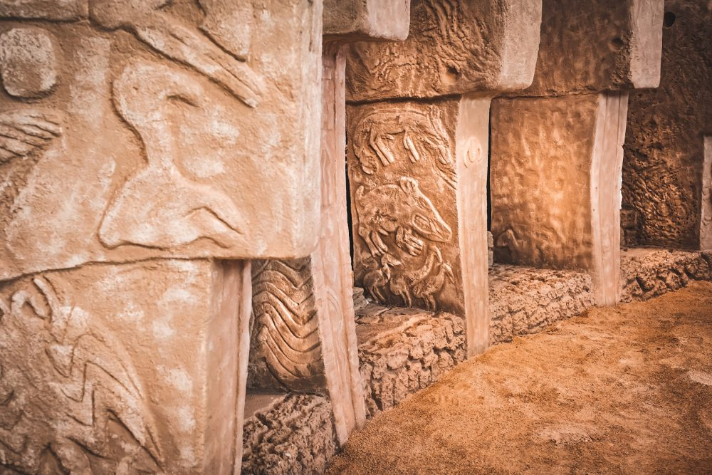An image of the megalithic stone pillars at Göbekli Tepe. Shutterstock.