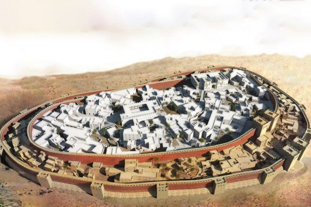 Artists rendering of the walls of Jericho.