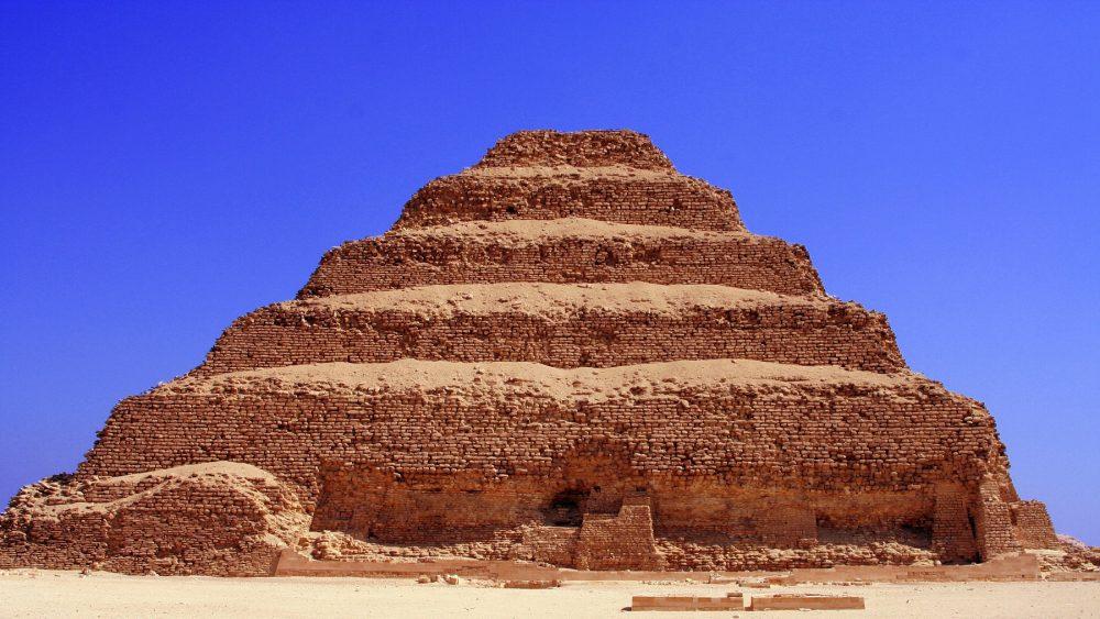 A photograph of Djoser's Step Pyramid at Saqqara. Shutterstock.