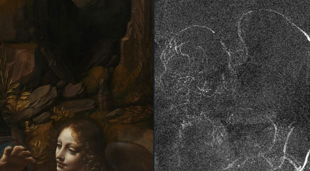 Scientists have discovered hidden races of earlier paintings in DaVinci's paintings. They did so by combining macro X-ray fluorescence scanning – a way of mapping chemical elements used in Da Vinci's paint such as copper, zinc and lead with an algorithm developed at Imperial to process the huge amount of data from the scans. Image Credit: Imperial College / Twitter.