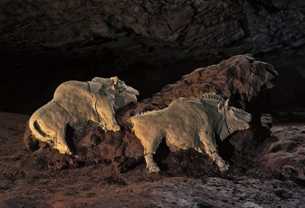 An image of the Tuc d'Audoubert Cave Bison Sculpture. Image Credit: Reddit.